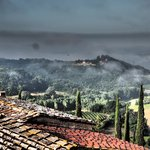 Early morning fog before another wonderful Tuscan day