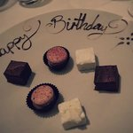 Delicious complimentary petit fours!