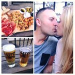 Platter, pints and kiss