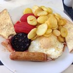 The big boy breakfast (a bit expensive at £6.99 when a Toby's breakfast is £3.99 all you can eat