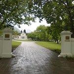 Entrance to estate ...