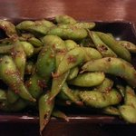 Spicy Edamame - see the spice?