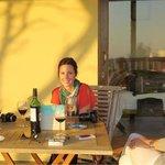 Enjoying sundowners on the cottage veranda with Dax Villanueva (Relax-With-Dax blog), Lauren McC