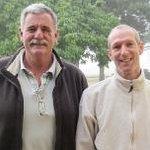 Farm manager, Richmond Wilmot with chef Alan Pluke.