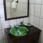Rainforest art on sink