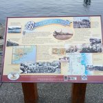 Nice signage to let you know some historic facts about the waterfront.
