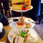 Our afternoon tea minus cakes that are on other pics on here.