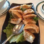 Double order of pot stickers - by the time I got my phone out to snap photo- some potstickers my