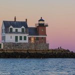 Rockland Lighthouse at Sunset