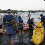 other participants getting on the kayak