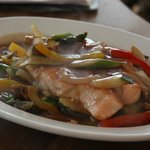 Fish of the day with ginger sauce