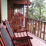 Our private double room with porch