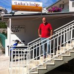 Luka - the owner, in front of the hostel