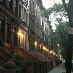A late summer evening on the street.