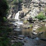 the falls and scramble-able rocks