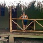 Me on the porch of my tiki hut @Sol y Luna