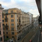 View from bedroom towards Piazza Del Popolo