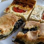 Daily assortment of greek tarts @ breakfasts