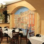 Dining area at Baci Restaurant.