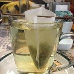 Elegant tea service at Foto Cafe