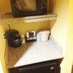 Microwave, Coffee Maker, Refrigerator