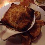 Meat and mushroom pie.