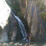 Waterfall on mountain