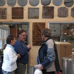 Pauline and Tom telling about maple sirup history to my brother in law