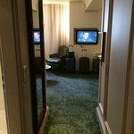 hallway and tv