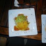 Mango & Avocado salad (and chips!)