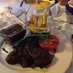Lovely fillet steak with mushroom sauce