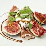 Ibérico Serrano Ham, Fig & Goats' Curd Salad, Truffle Honey