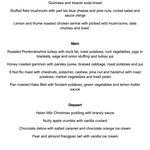 Christmas menu 2014