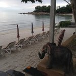 parte sinistra della spiaggia di Chaweng