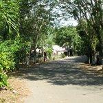 de doorgaande weg bij het guesthouse
