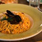 Seafood Pasta at Cucina  JW Marriott Dubai