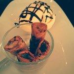 Nems au chocolat & Glace vanille