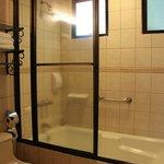 Shower, bathtub & toilet