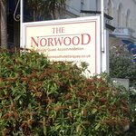 The Norwood Guest House Sign on 60 Belgrave Road,Torquay