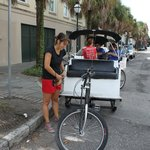 Charleston Rickshaw Co.  Tricycle Taxi Service.  FUN!
