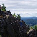 Cliffs just below the summit
