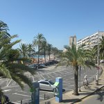 View from the roof terrace with beach just across the road