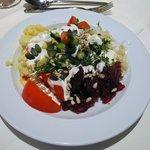 Die Auswahl am Salatbuffet