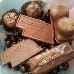 Old market candies! Fluffy peanut butter bar, nebraska balls, and nebraska state bars!