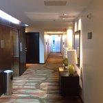 Corredores internos do hotel