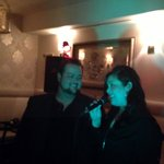 Sunny, left (Tenor) and Shadan (Soprano) sing an Operatic duet at Five Corners Bistro