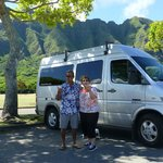 Ron, Wife and Ron's Beautiful Van