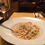 "Tagliatelle with ""stone"" mushrooms EUR14.90"