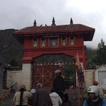 Temple main entrance. Just less than a Km to the main temple from here.