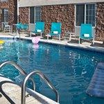 Outdoor seasonal, heated pool.